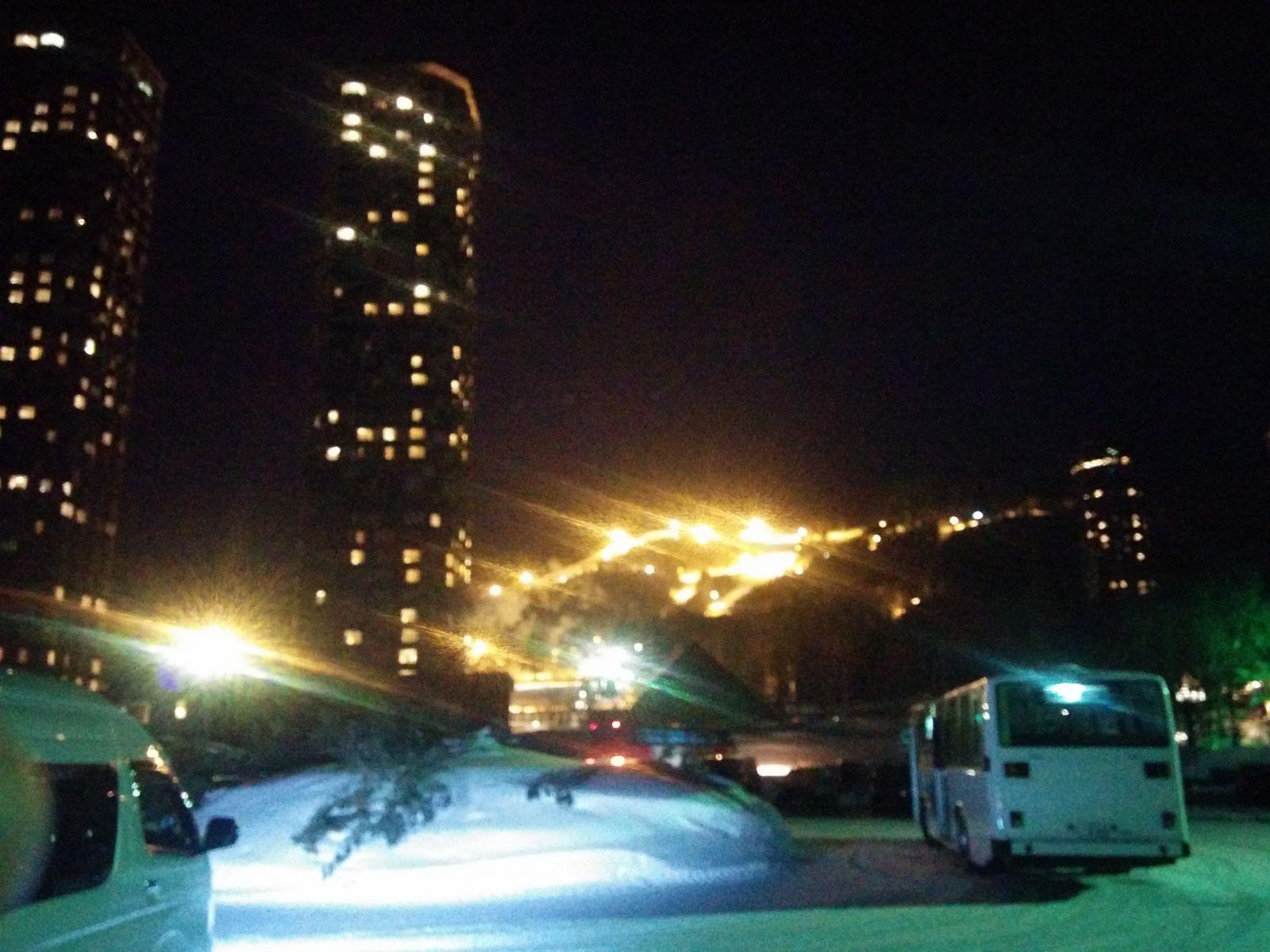 【トマムリゾート】夜のトマムリゾート観光タクシーです。