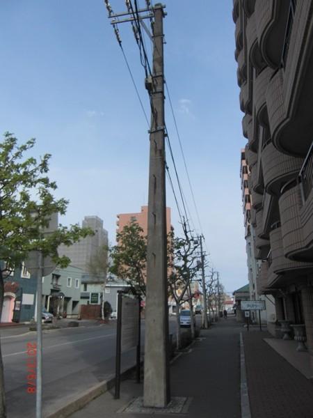【函館】日本最古の四角いコンクリート電柱観光案内です。