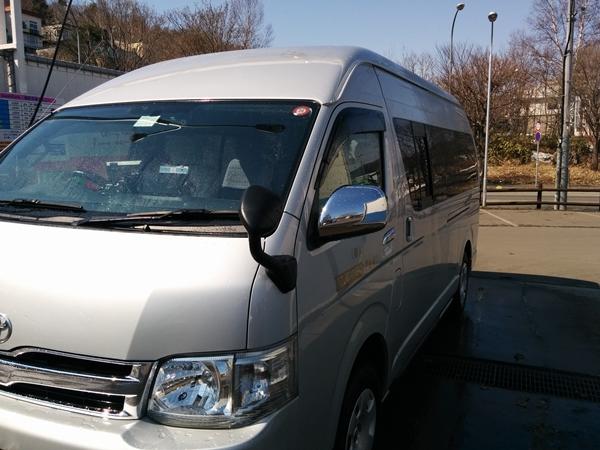 【小樽】愛車ハイエースの鉄粉取り観光タクシー