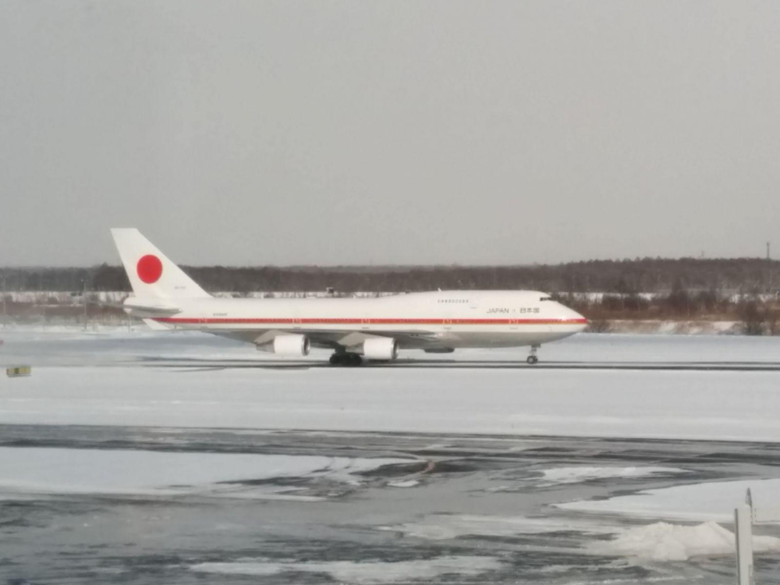 【新千歳空港】政府専用機観光写真です。