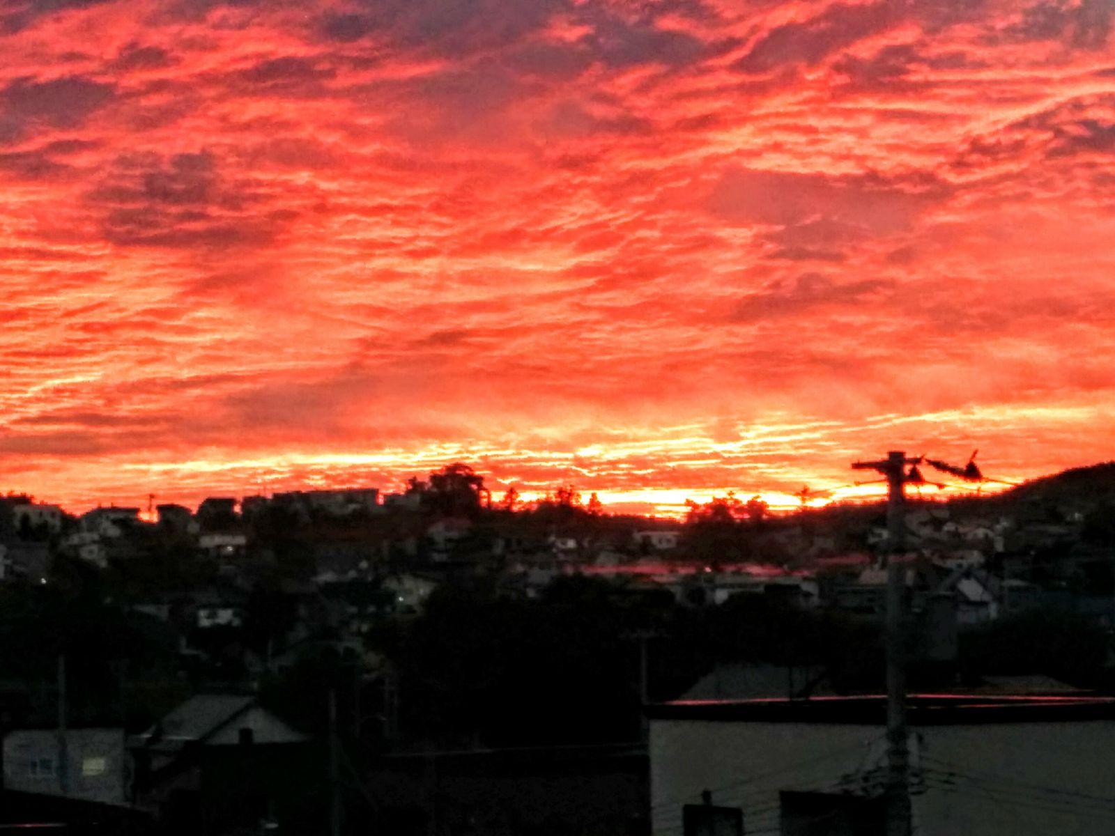 【小樽市】自宅前の夕焼け観光写真です。