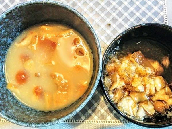 トン〇ハイヤー山菜倶楽部キノコ汁グルメ案内です。
