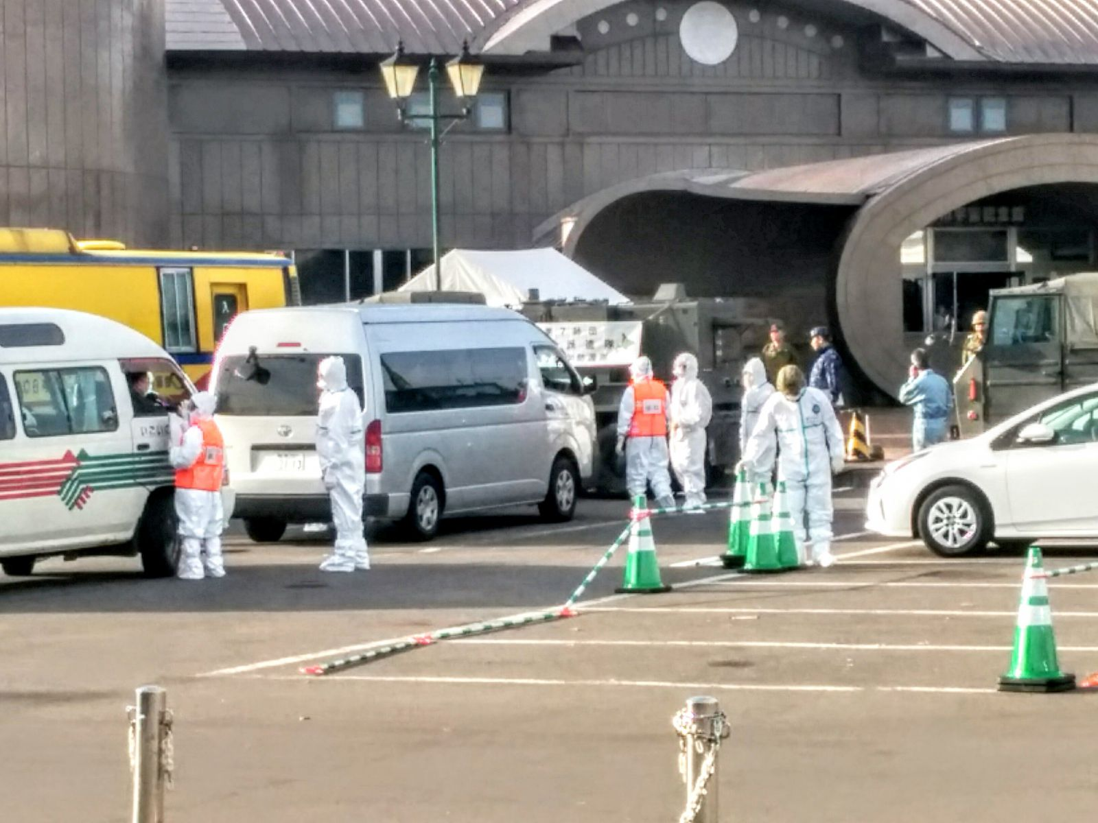 積丹半島余市町原発防災訓練観光タクシーです。