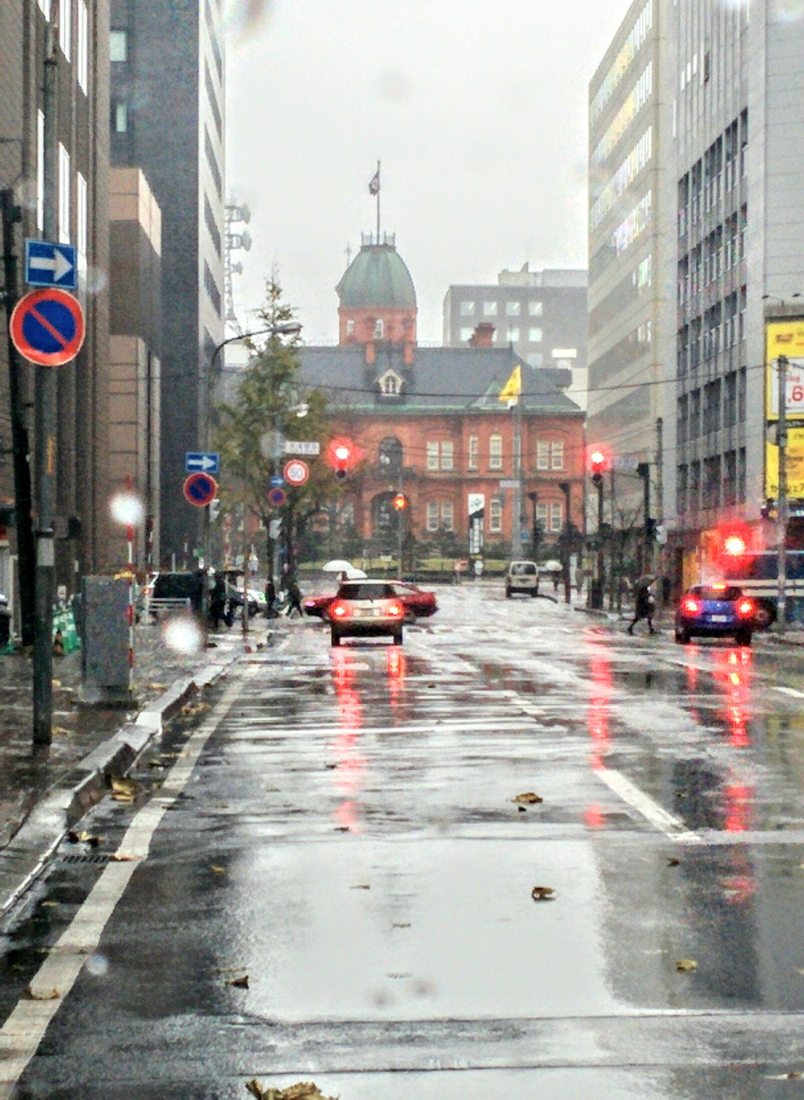 今日の札幌は雨☔です。