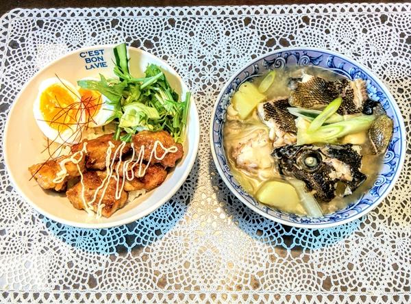 【小樽】お家御飯・鶏肉の照り焼き丼とそいの味噌汁グルメ案内です。