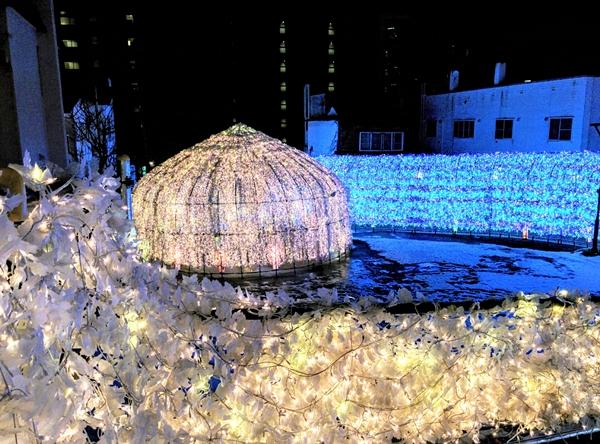【洞爺湖温泉】イルミネーショントンネル観光案内です。