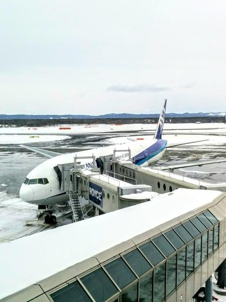 【新千歳空港】雪の新千歳空港送迎観光貸切タクシーです。