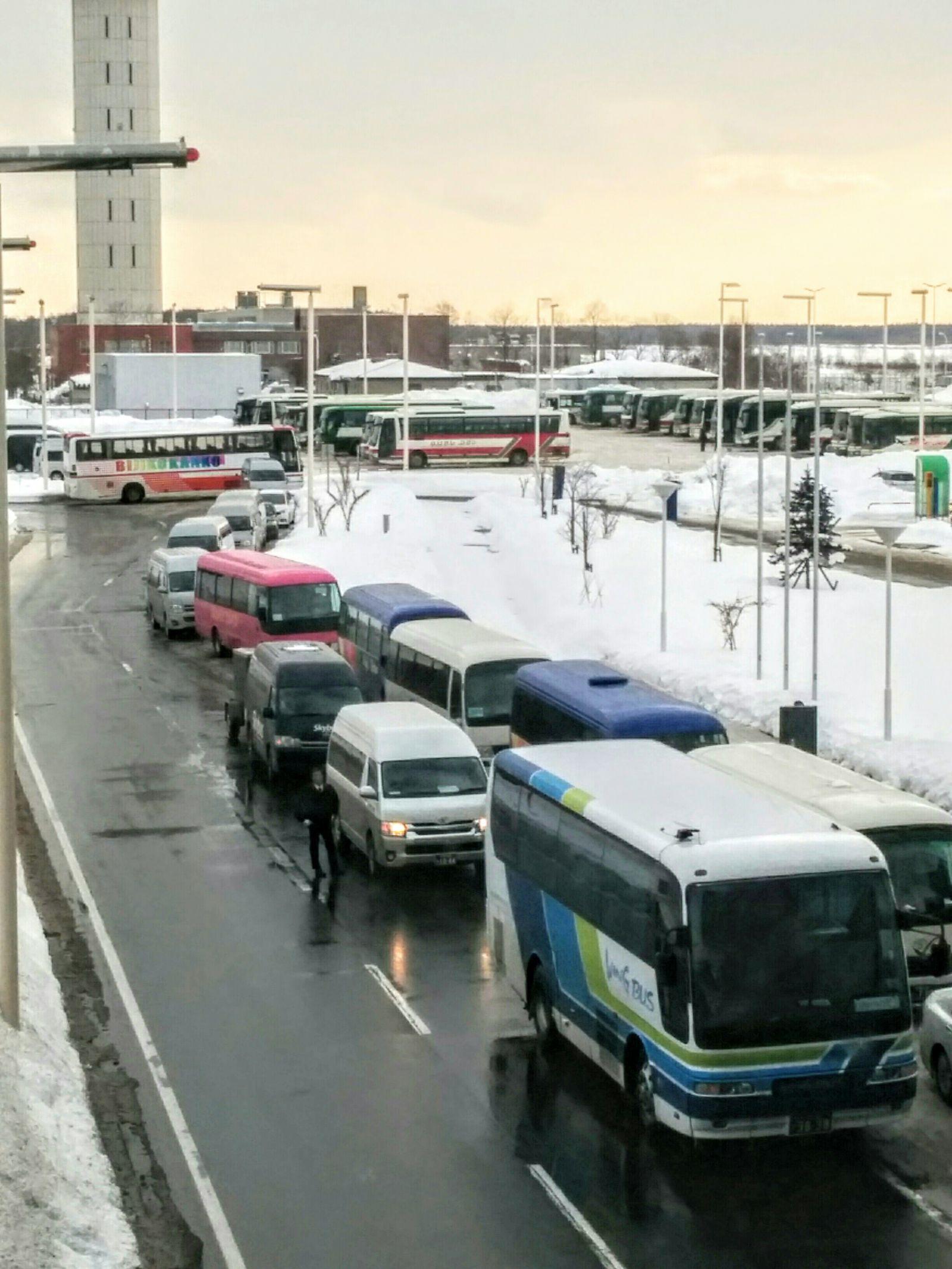 【新千歳空港】冬の国際線ターミナル観光写真です。