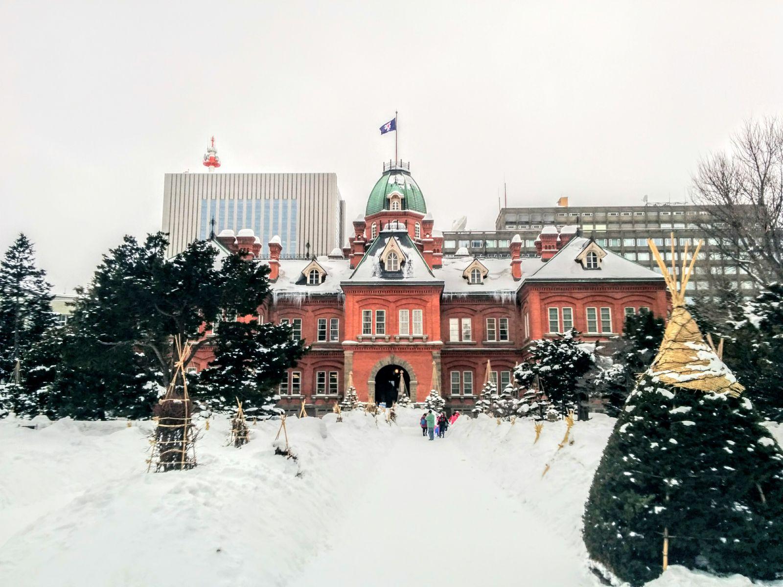 【札幌】冬の北海道庁舎旧本庁舎観光タクシー
