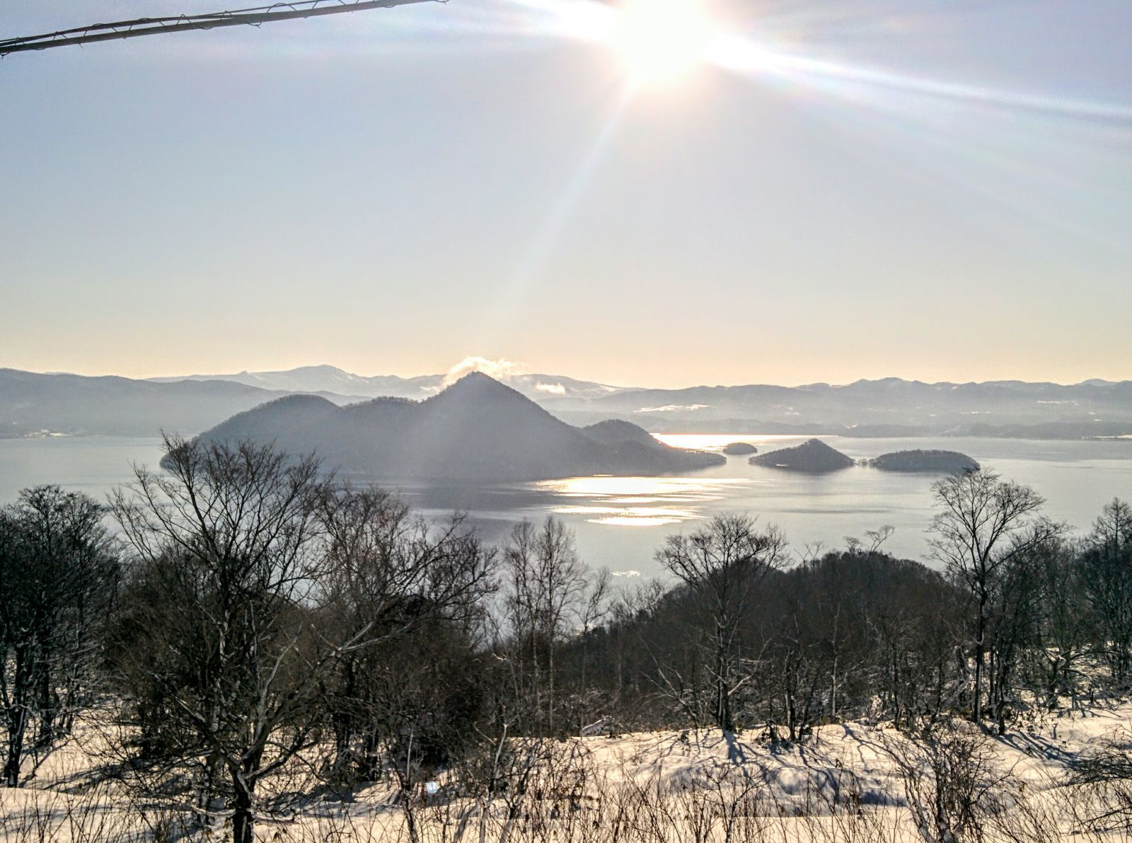 【洞爺湖温泉での観光タクシー】冬の洞爺湖観光案内です。