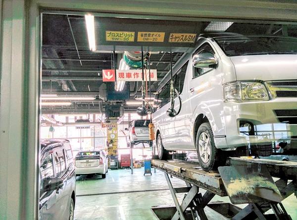 【小樽】ハイエースジャンボタクシー・トヨタで修理です。