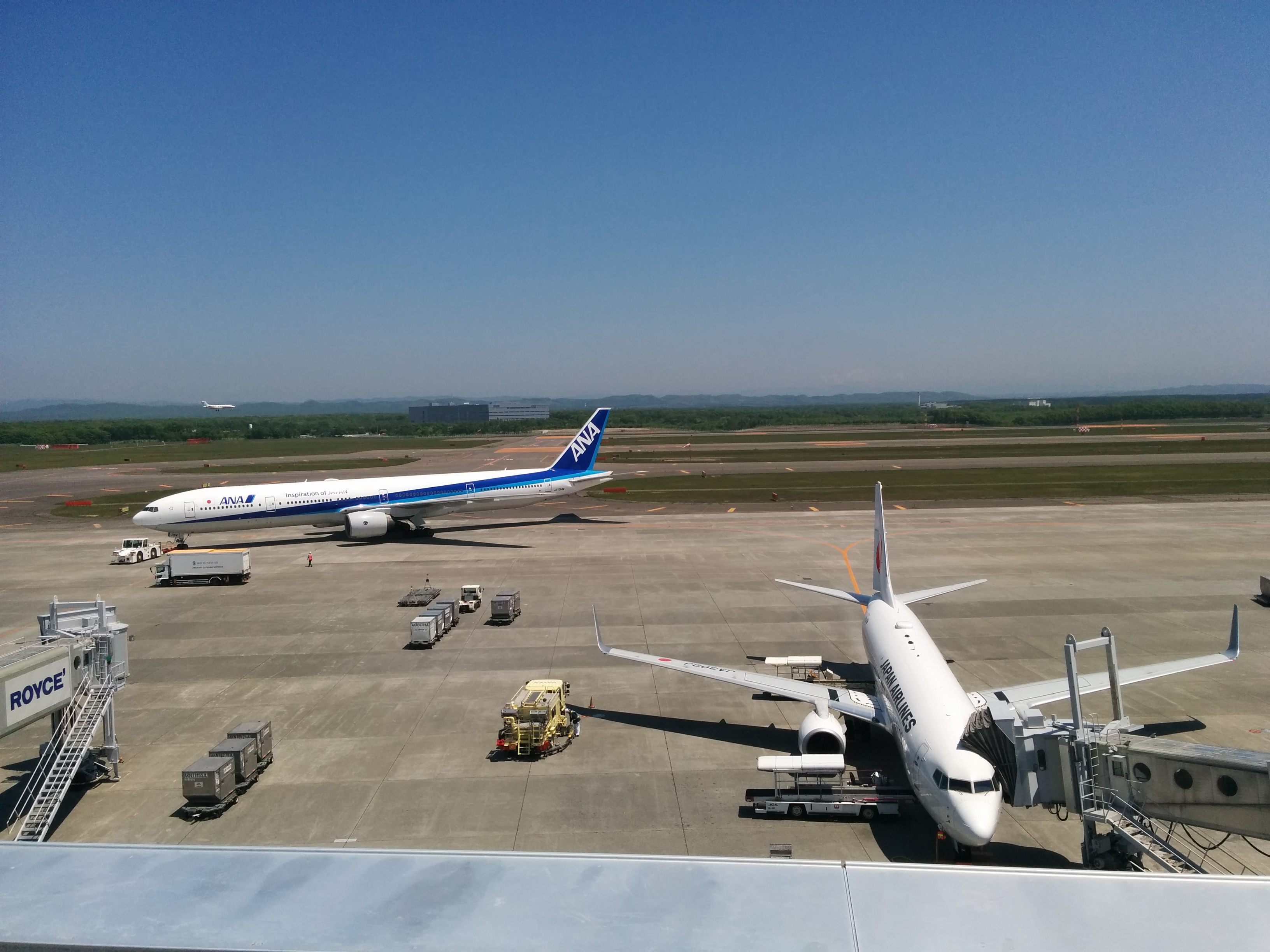 【新千歳空港】新千歳空港展望デッキで~す。
