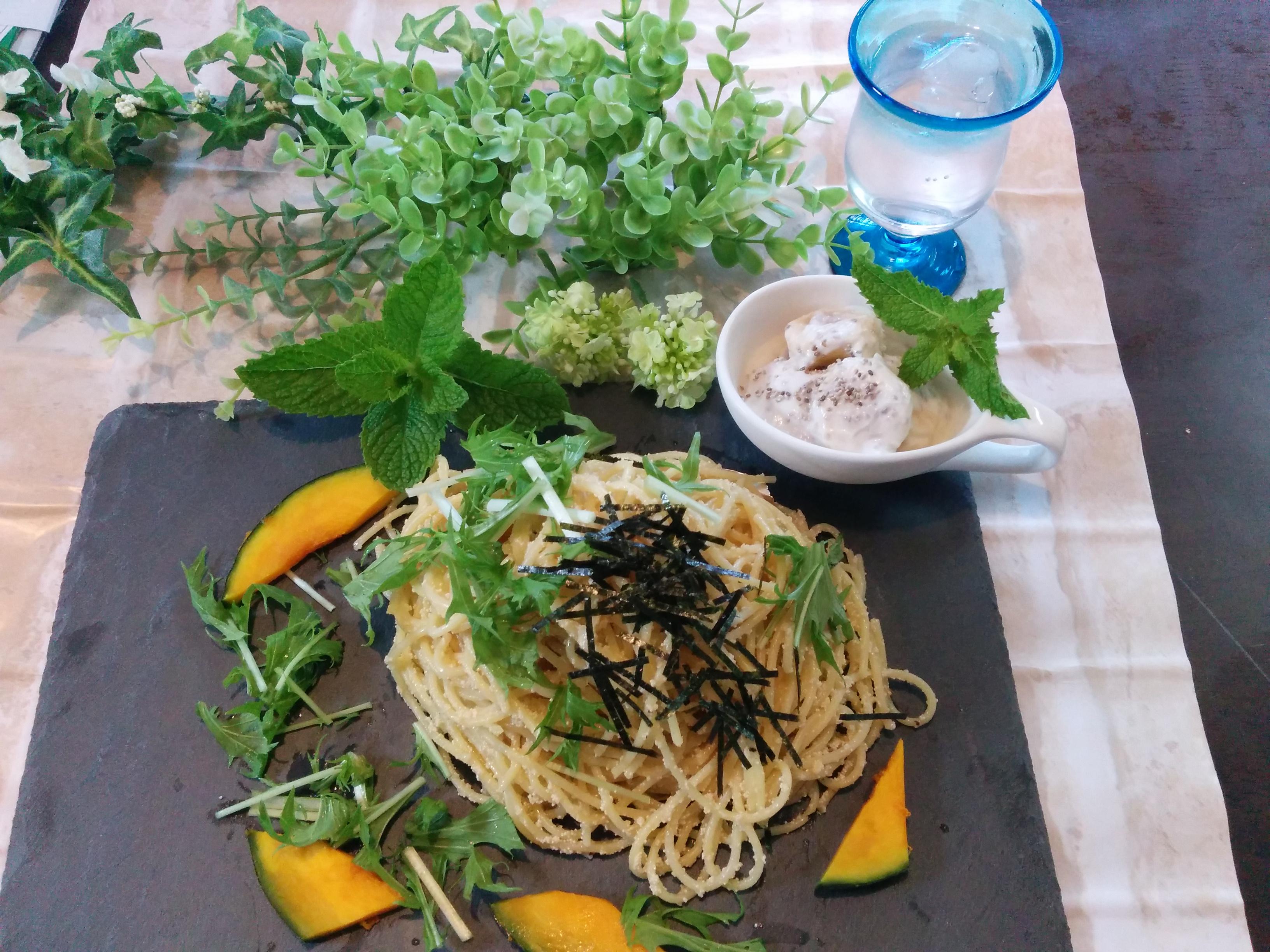 【小樽】今日のランチ・たらこスパゲッティです。
