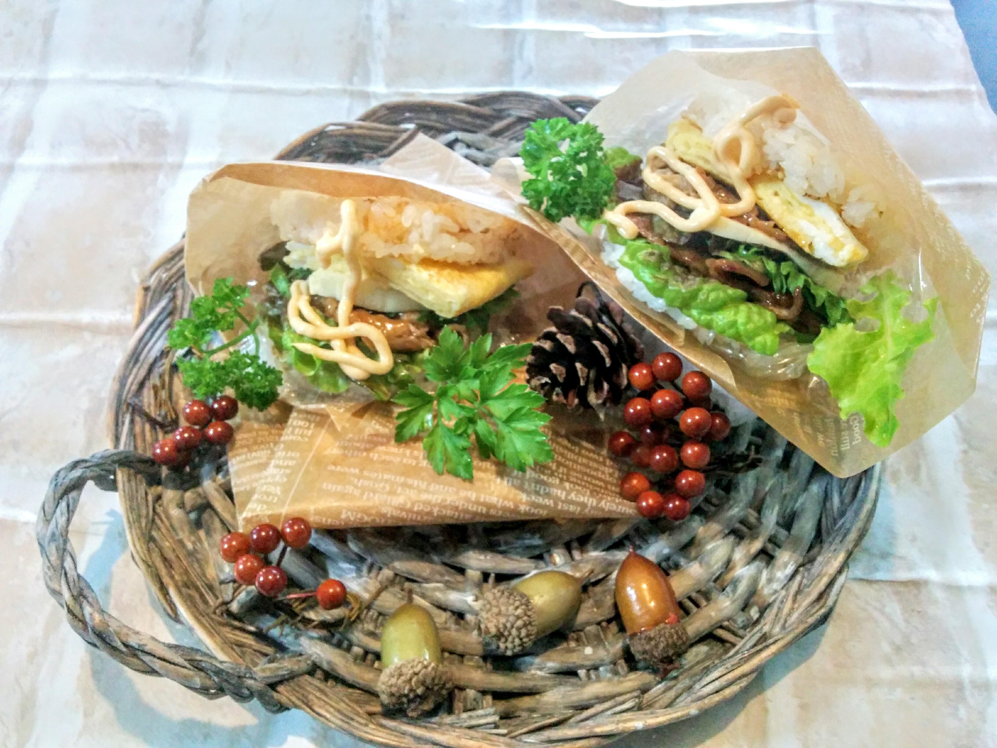 【小樽】娘の今日のお弁当・ライスバーガー弁当グルメ案内です。