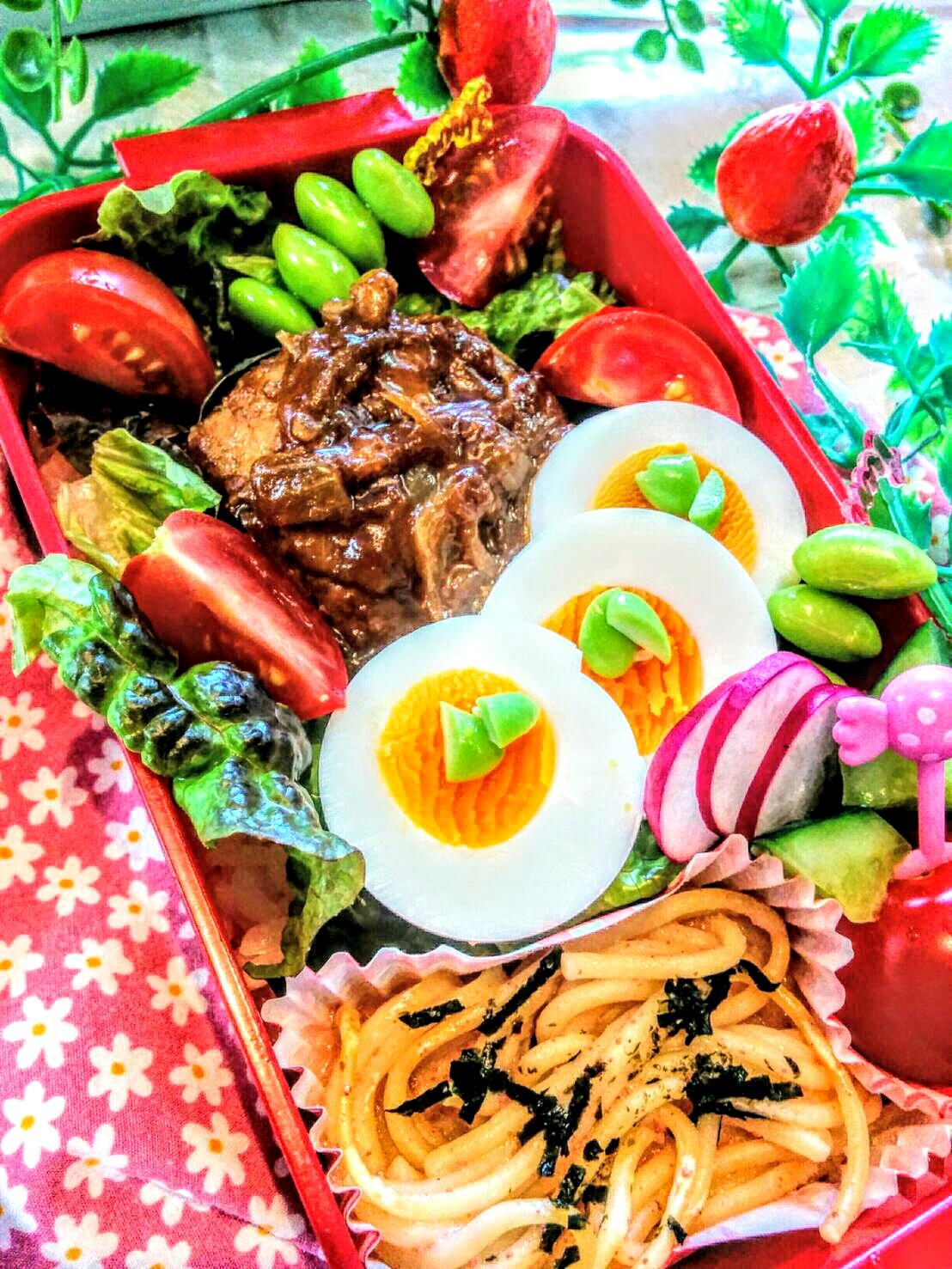 【小樽】娘の今日のお弁当・ロコモコ丼弁当グルメ案内です。