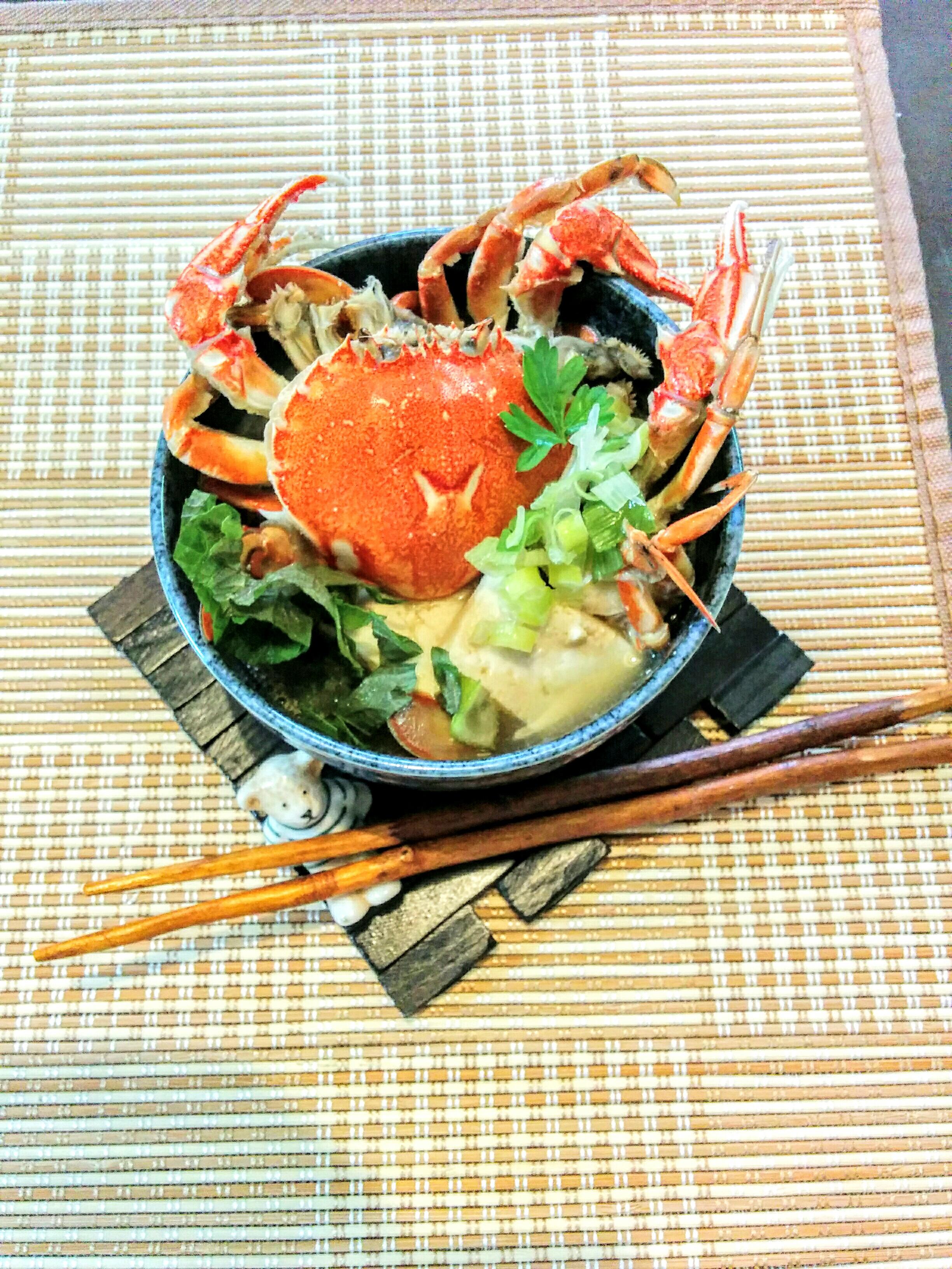 【小樽】お家御飯・ヘラガニの味噌汁グルメ案内です。