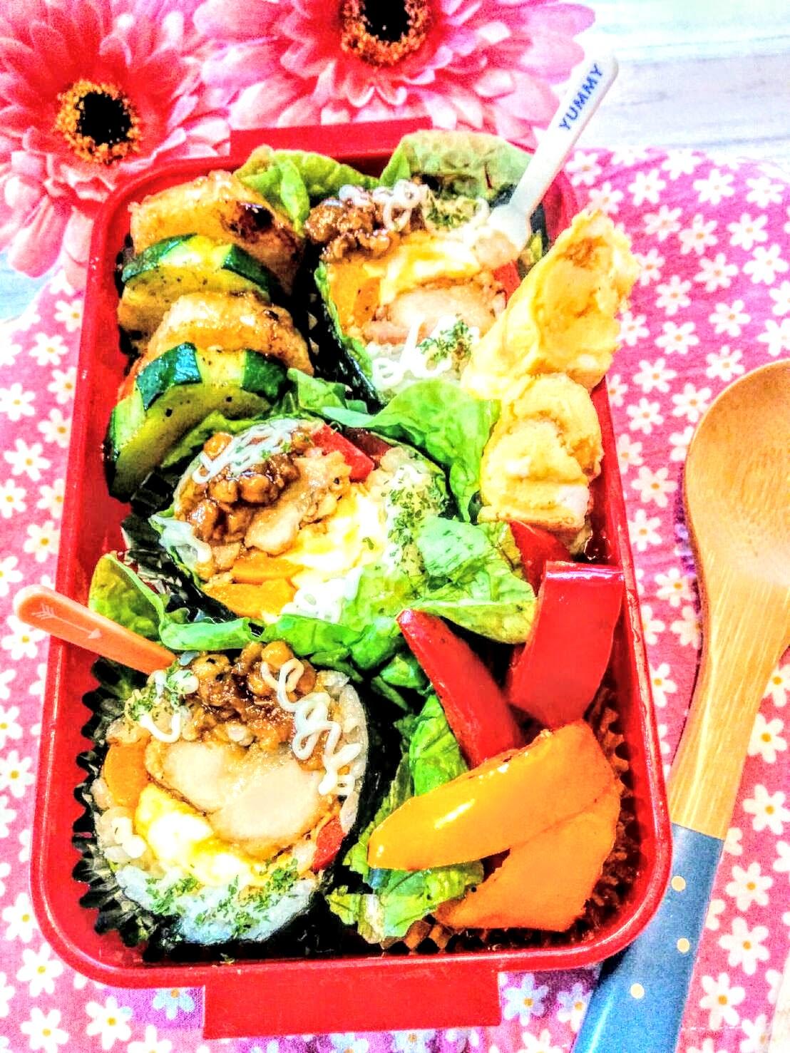 【小樽】娘の今日のお弁当・照り焼きチキン巻き弁当グルメ案内です。