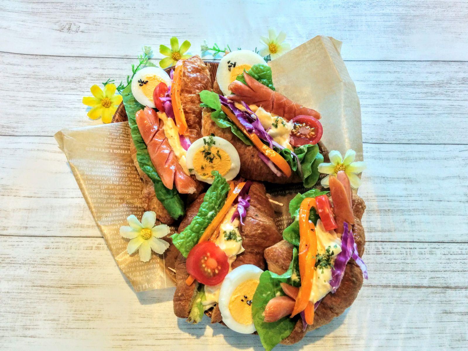 【小樽】娘の今日のお弁当・クロワッサンのタマゴサンド弁当グルメ案内です。