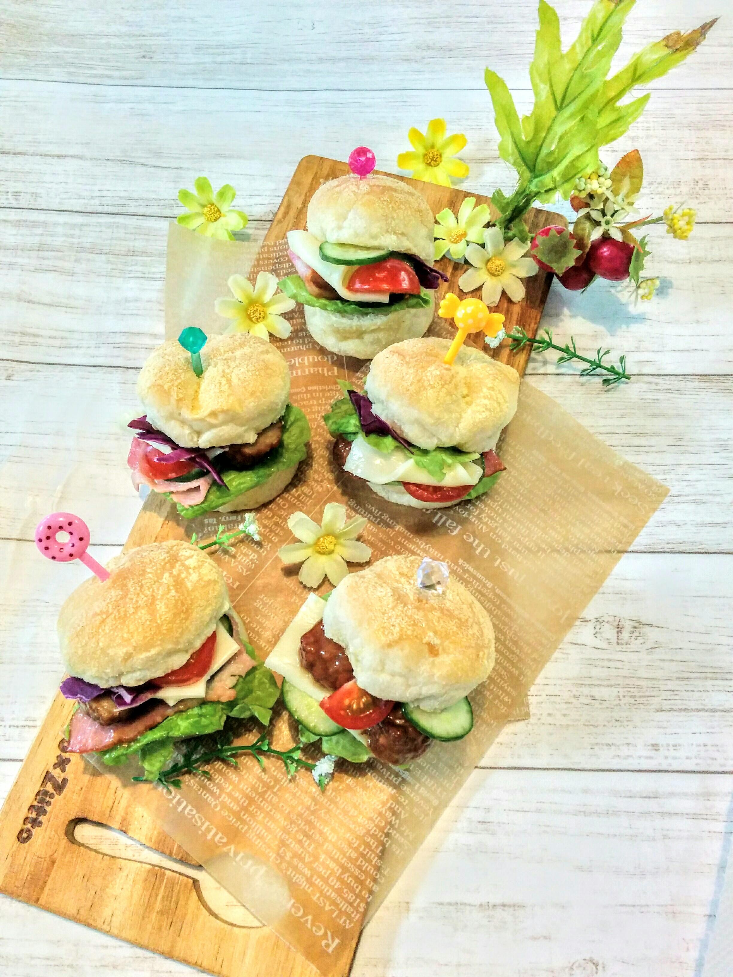 【小樽】娘の今日のお弁当・マフィンハンバーガー弁当グルメ案内です。