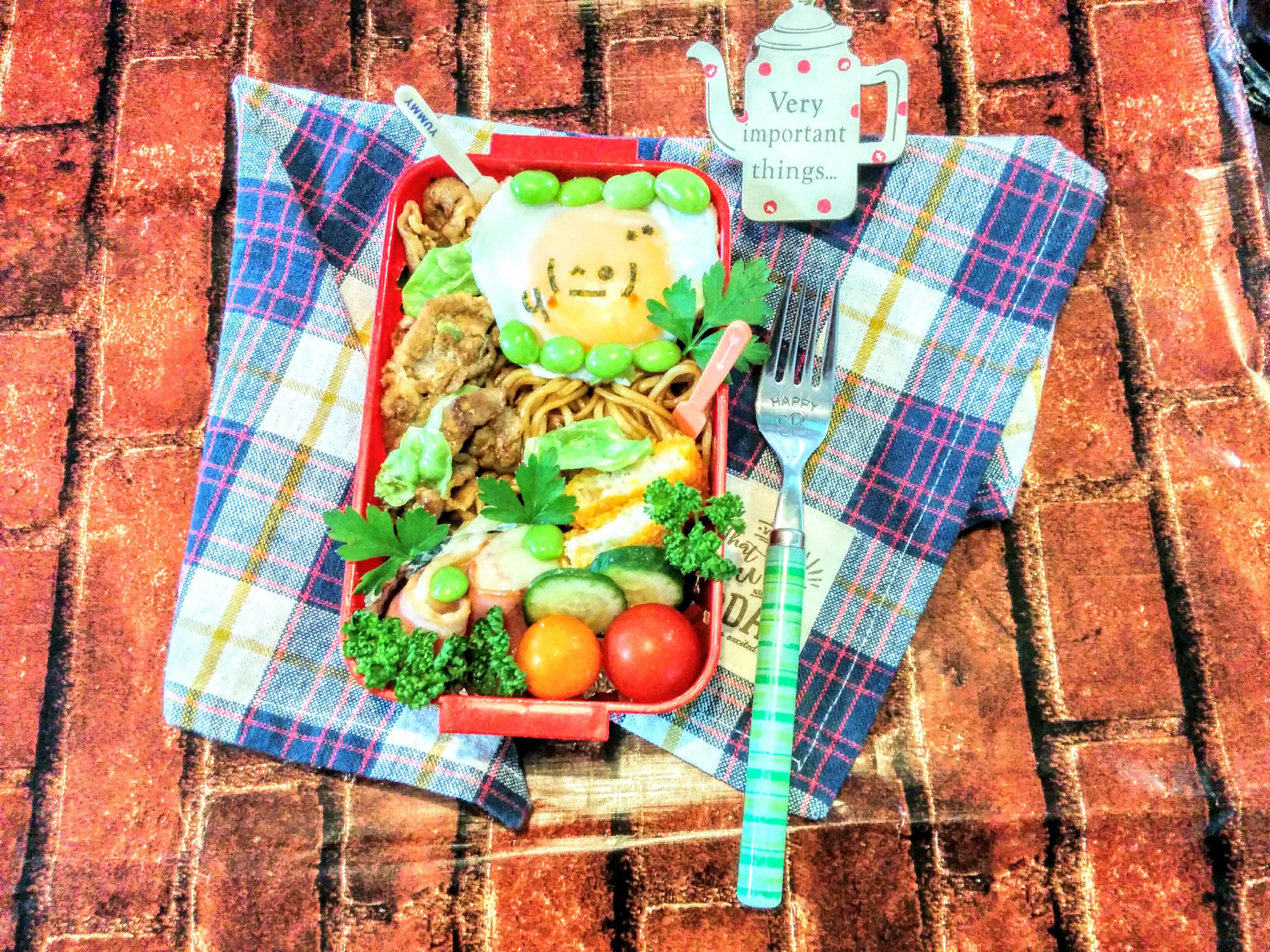 【小樽】娘の今日のお弁当・焼きそば弁当グルメ案内です。