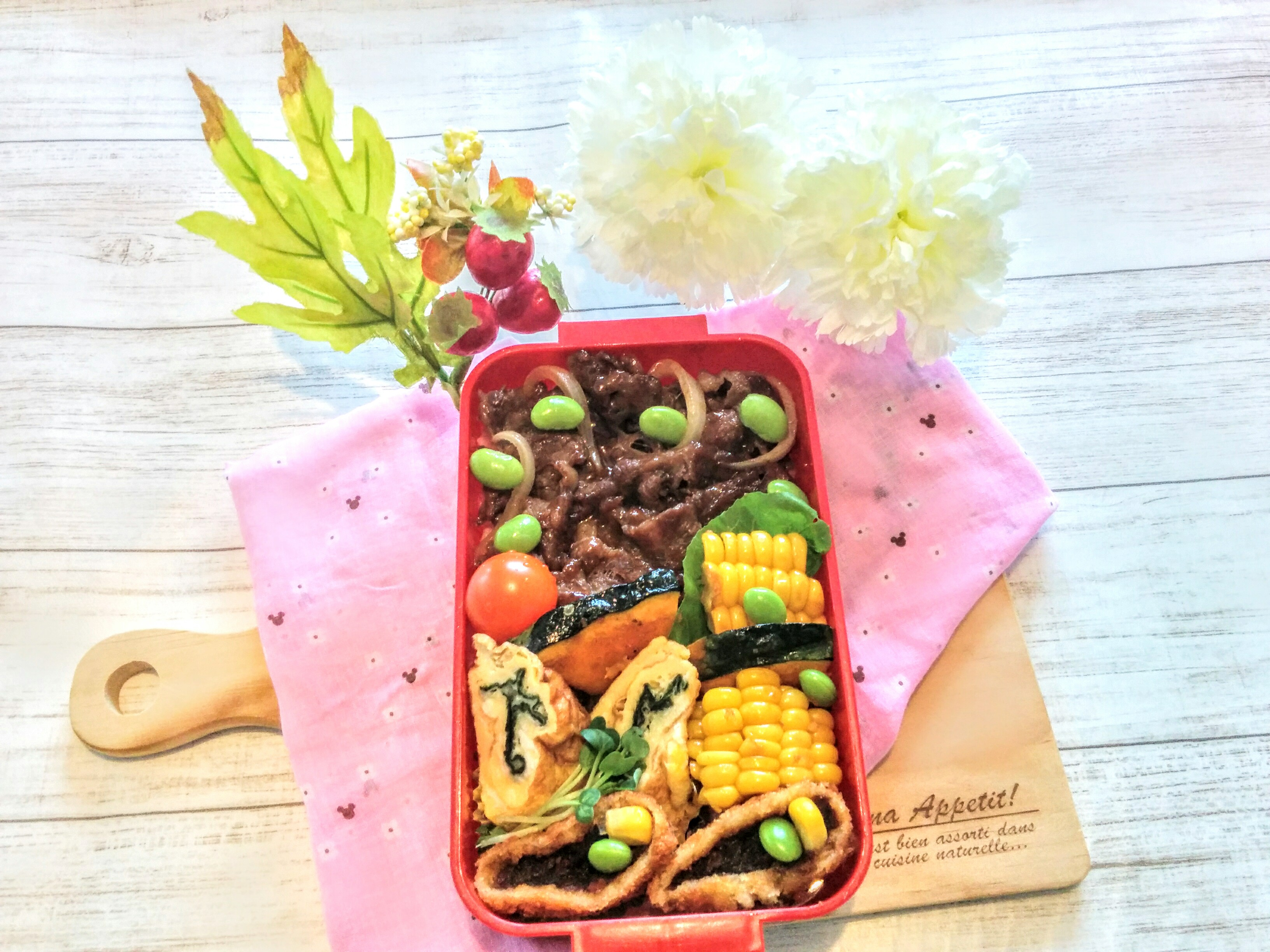【小樽】娘の今日のお弁当・牛照り焼き丼弁当グルメ案内です。