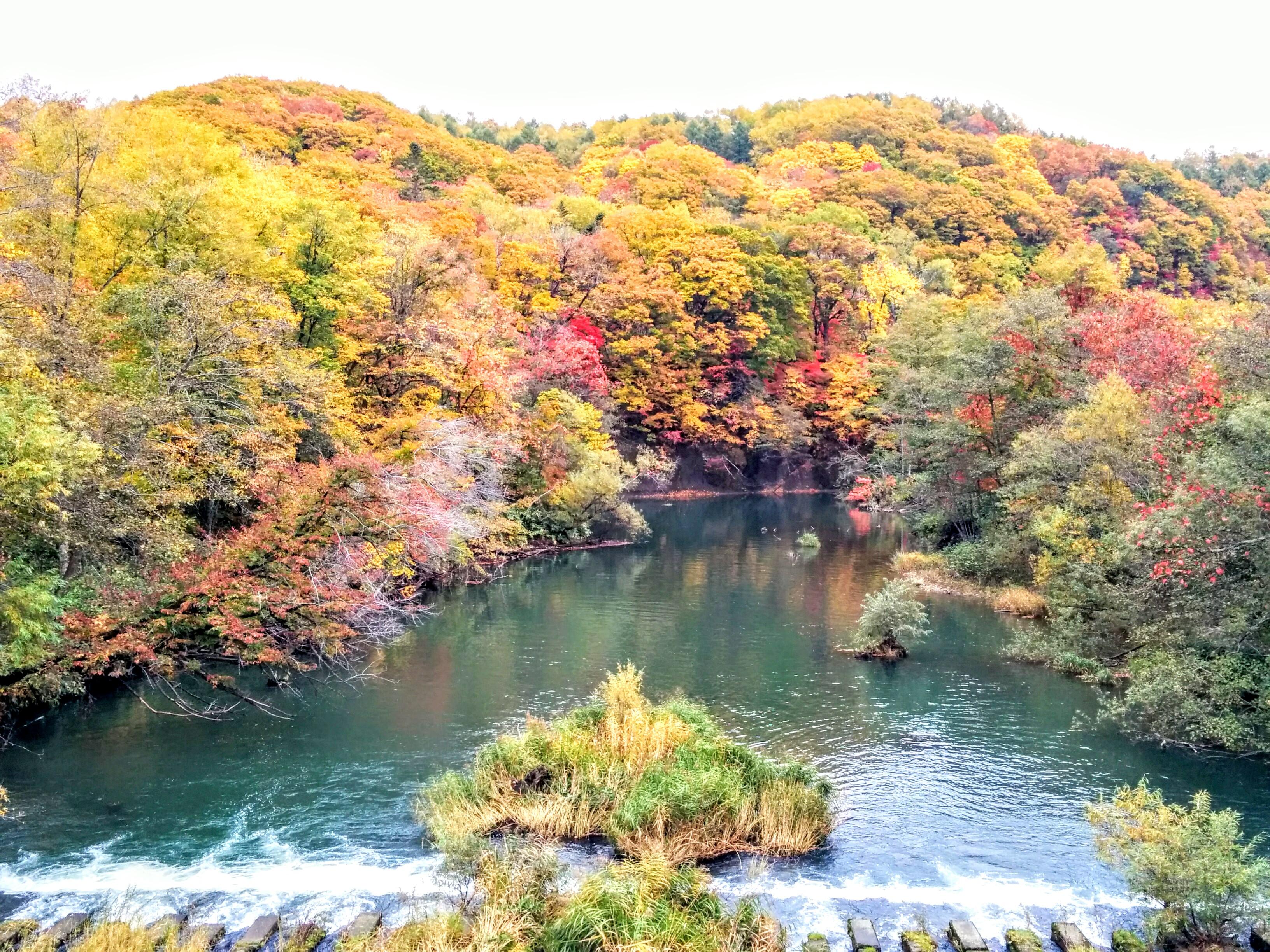 【恵庭市】紅葉の恵庭渓谷周辺観光案内です。