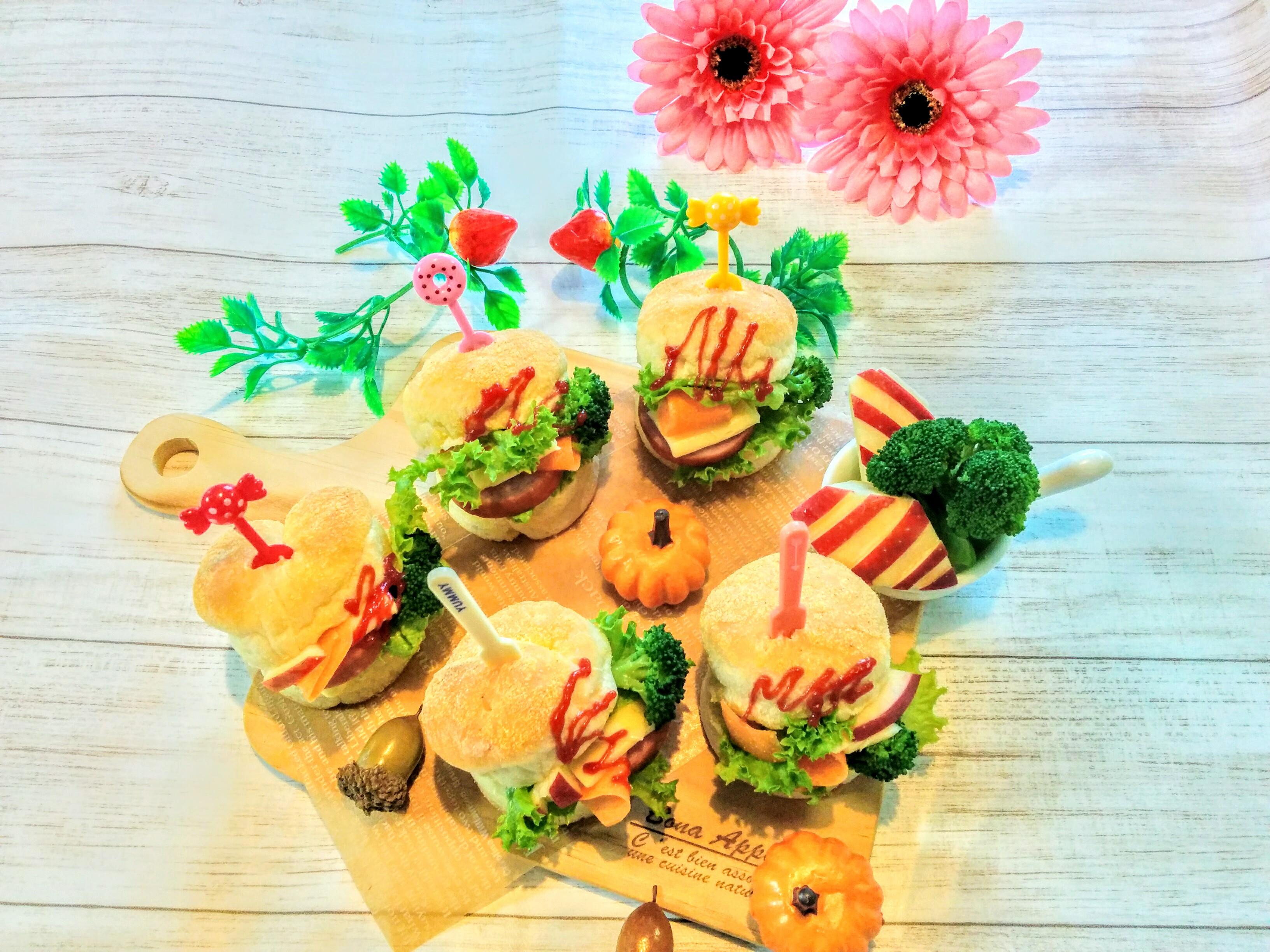 【小樽】娘の今日のお弁当・イングリッシュマフィンバーガー弁当グルメ案内です。
