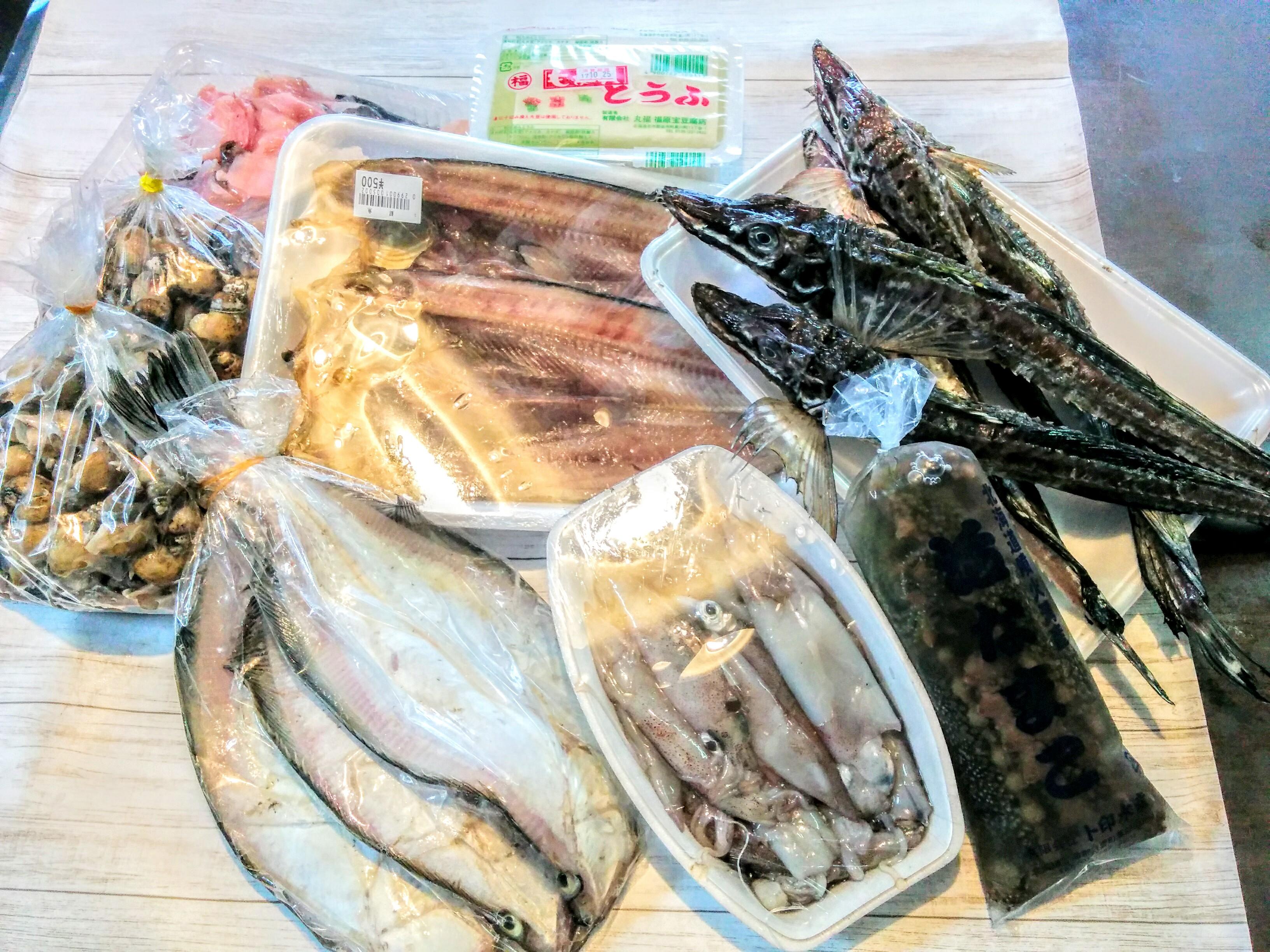 【余市】余市町で海産物を購入して来ました。