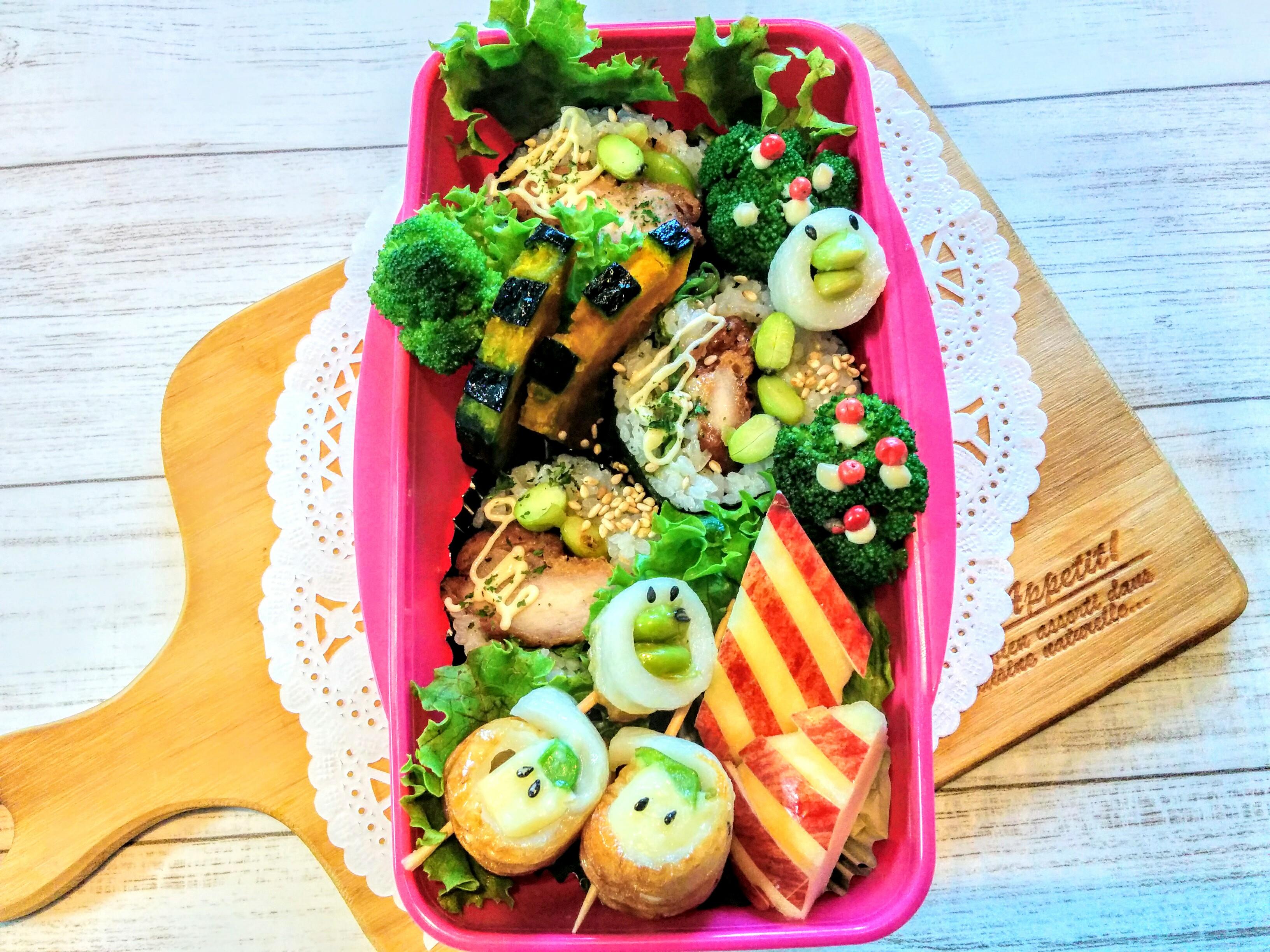 【小樽】娘の今日のお弁当・チキンロール弁当グルメ案内です。