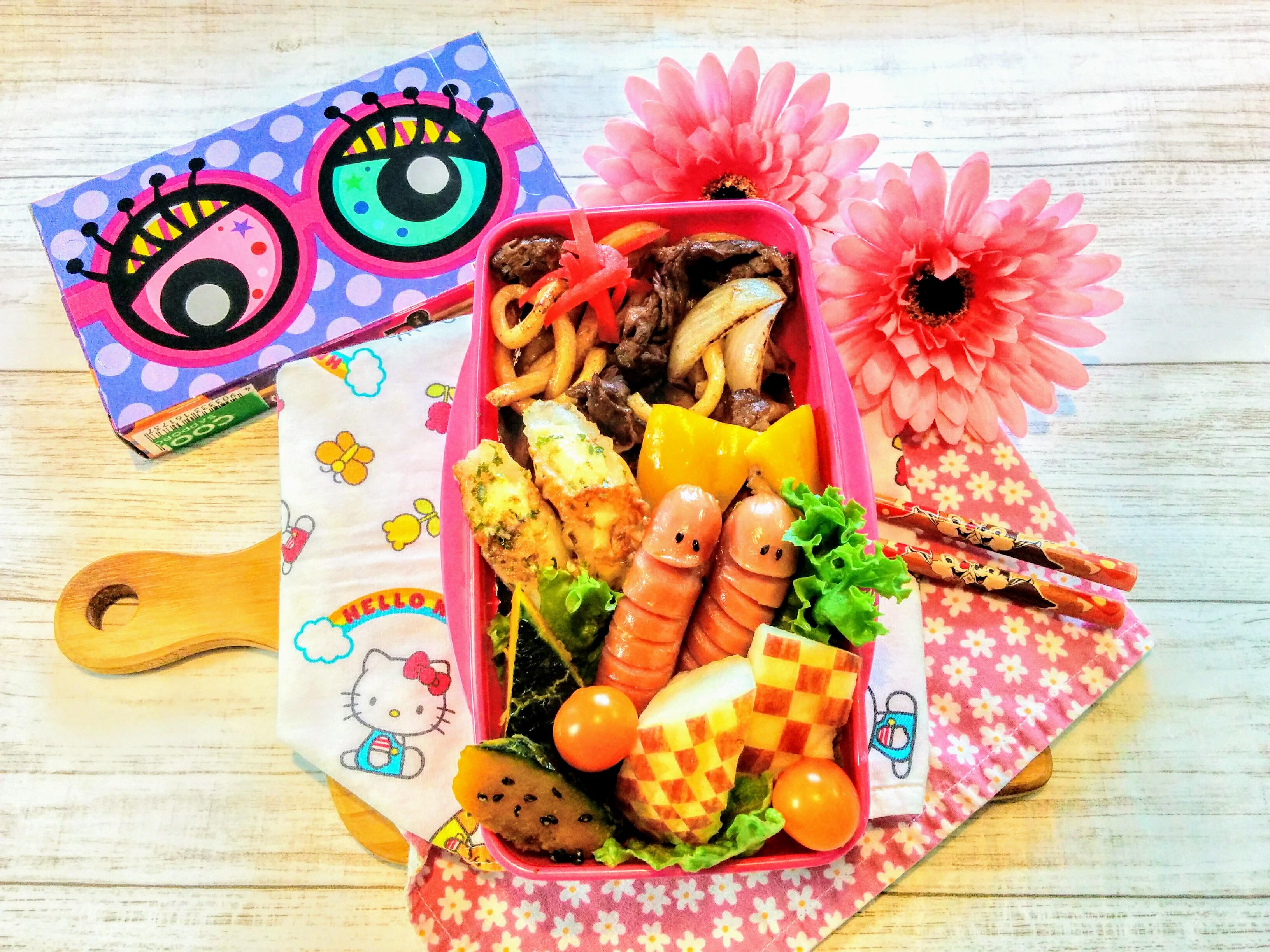 【小樽】娘の今日のお弁当・焼きうどん弁当グルメ案内です。