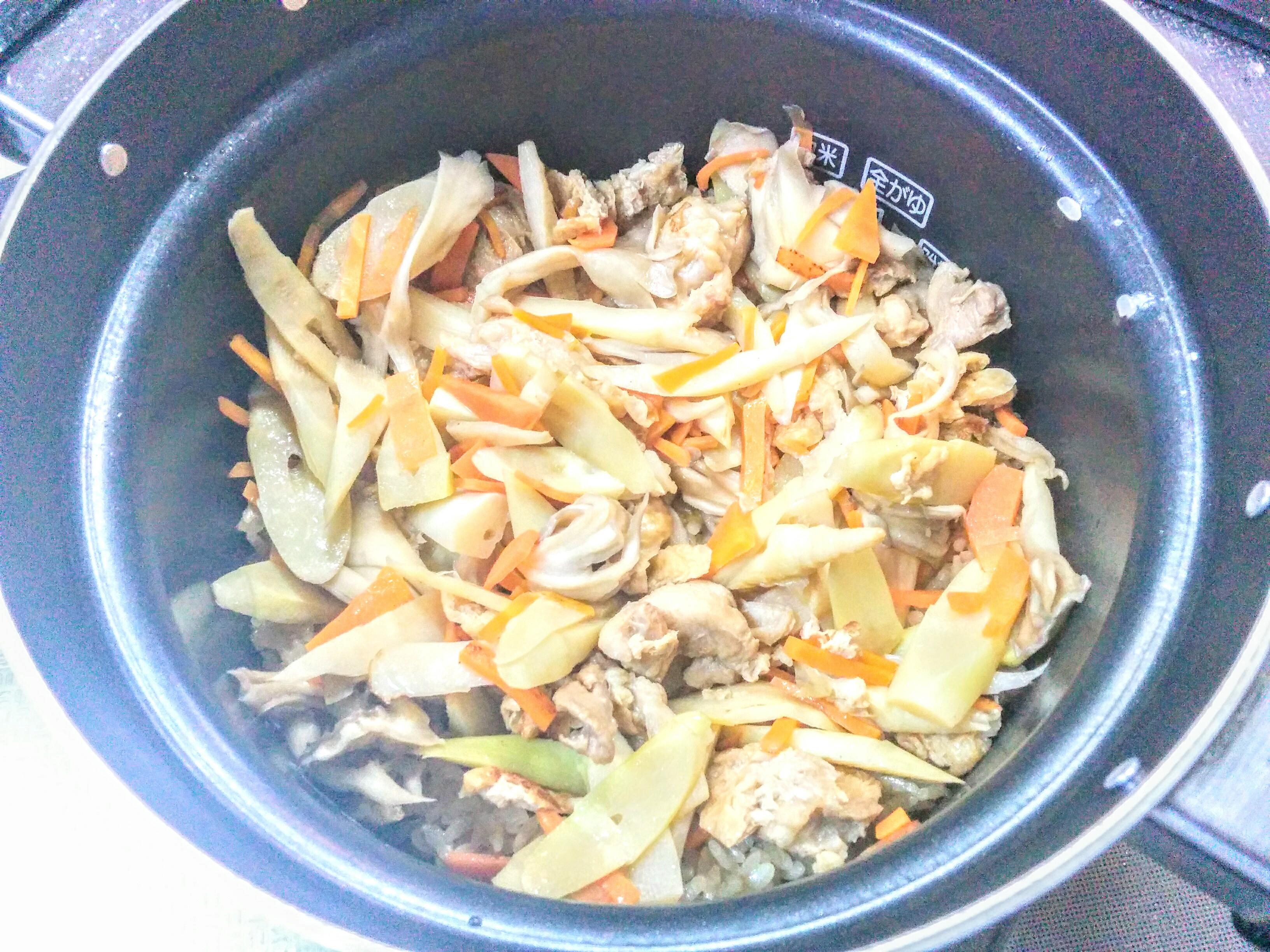 【小樽】お家御飯・竹の子ご飯と竹の子の味噌汁グルメ案内です。