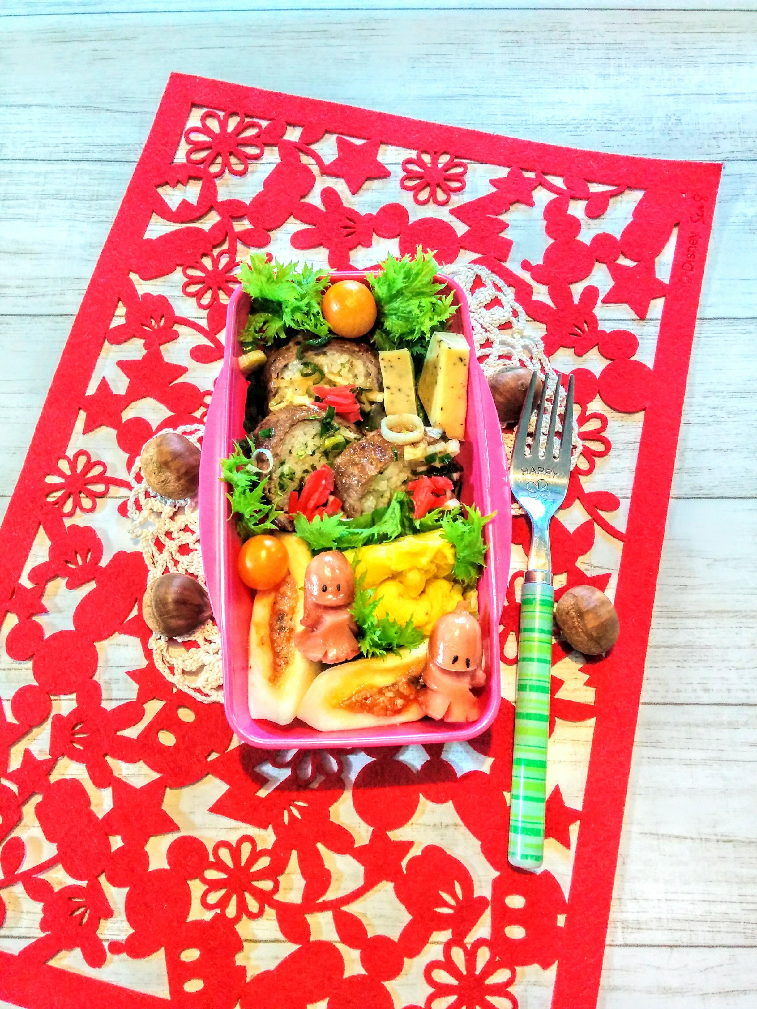 【小樽】娘の今日のお弁当・牛巻きスライス弁当グルメ案内です。