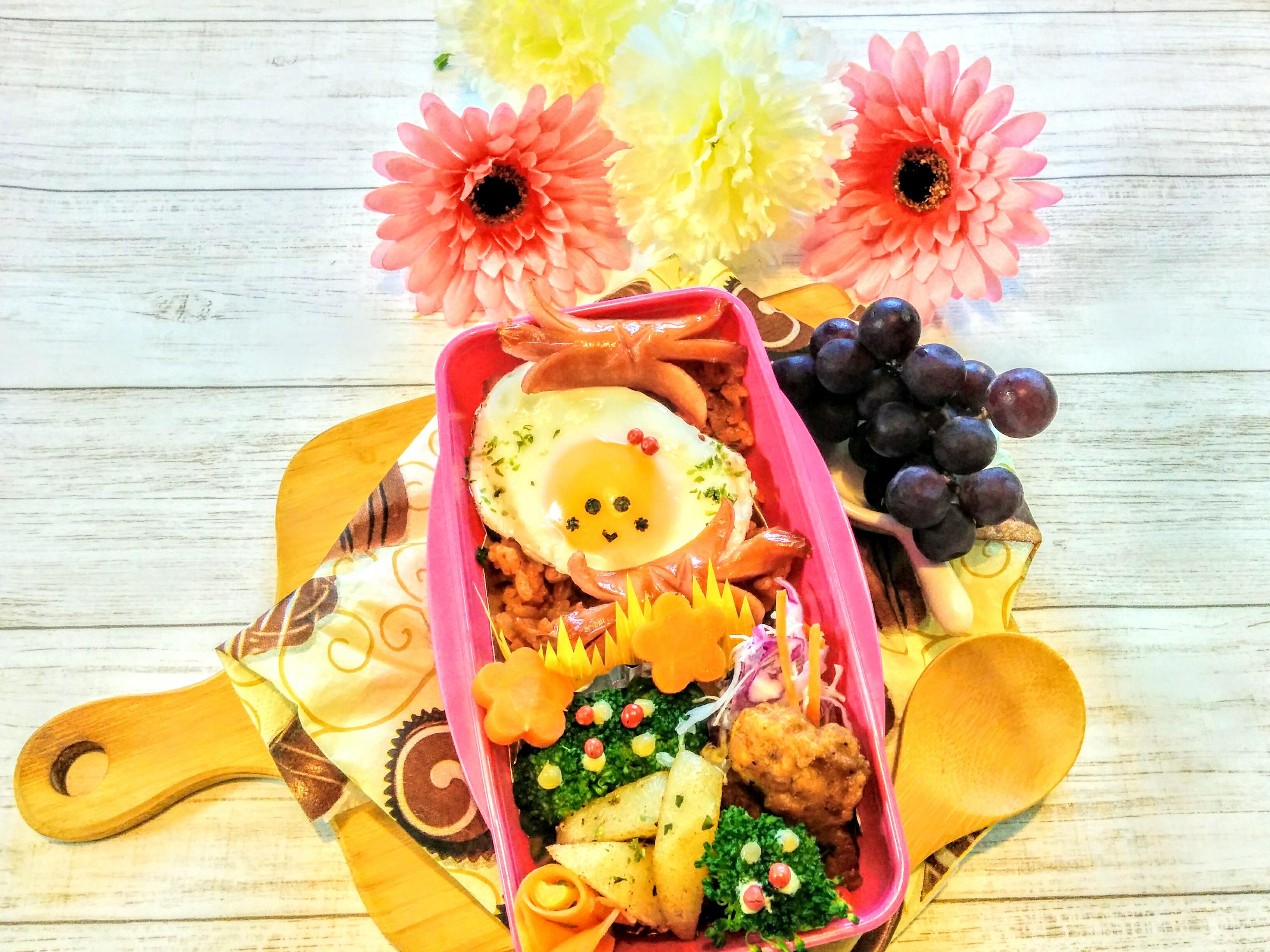 【小樽】娘の今日のお弁当・ケチャップライス弁当グルメ案内です。