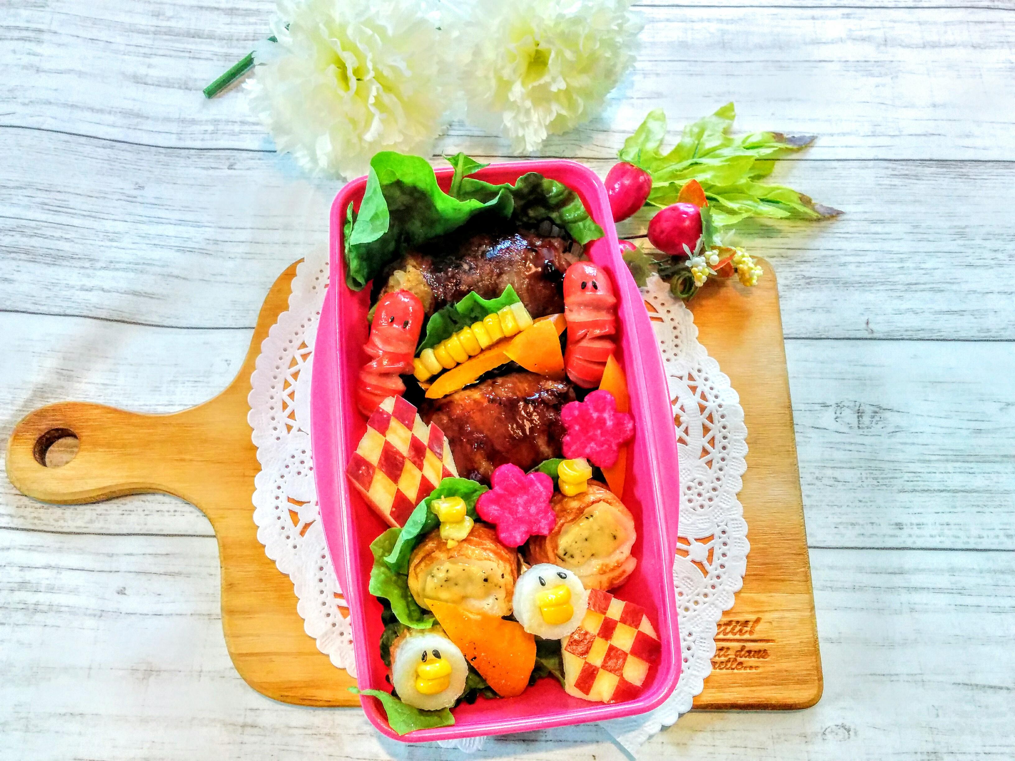 【小樽】娘の今日のお弁当・肉巻きお握り弁当グルメ案内です。