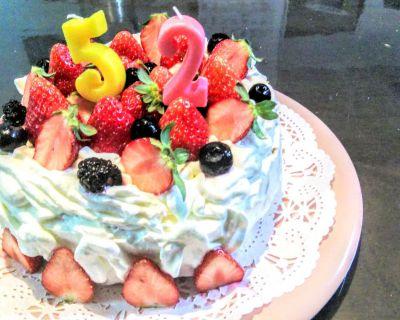 【小樽】52歳のバースデーケーキです。