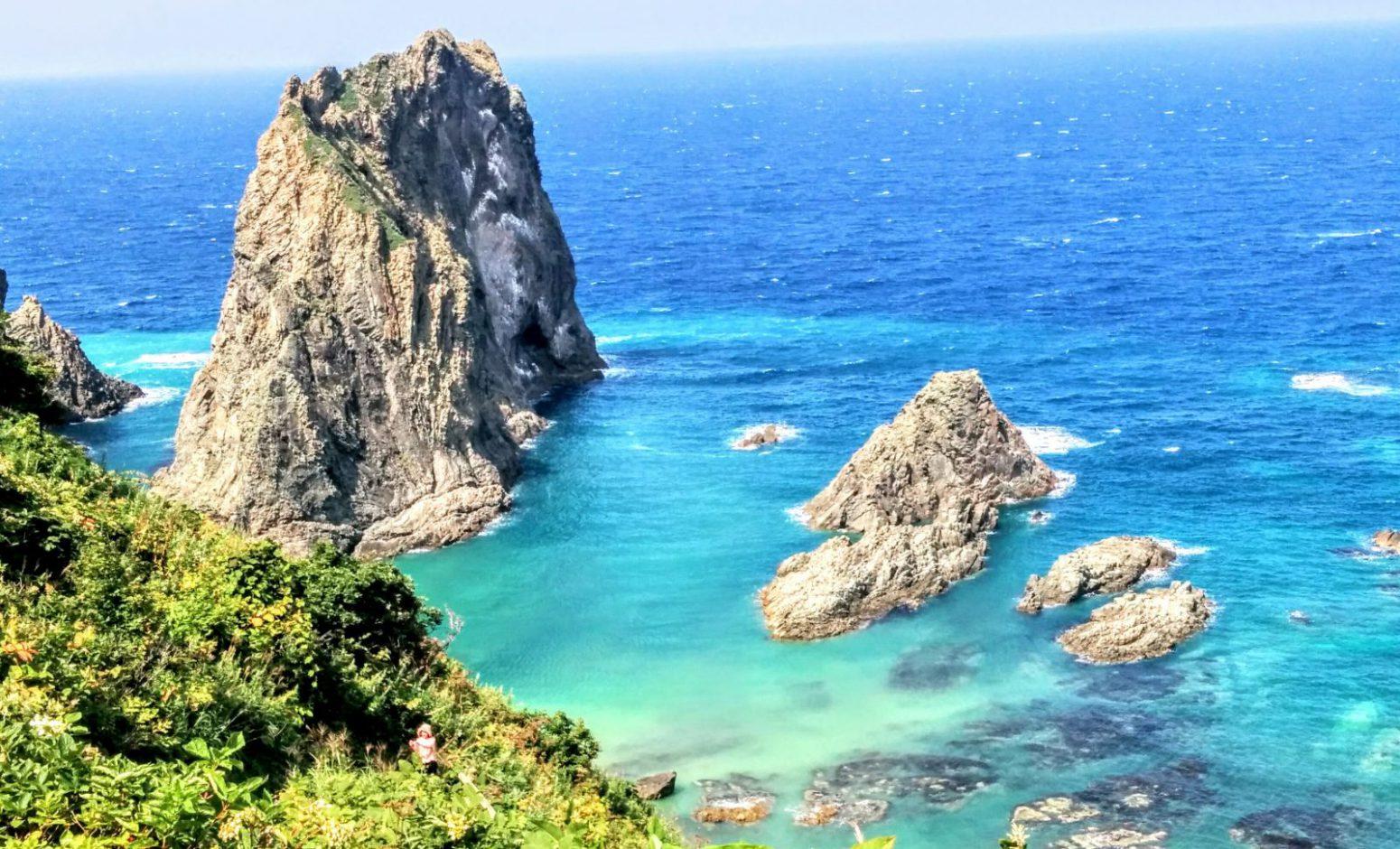 積丹半島積丹岬島武意海岸です。