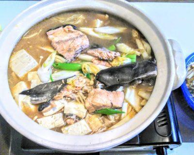 【小樽】襟裳産鮭で石狩鍋です。