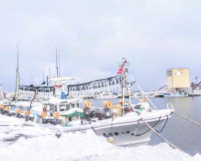 【積丹】冬の積丹半島での送迎観光タクシー・ジャンボタクシー