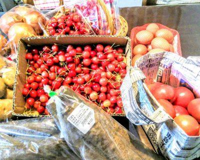 キロロリゾート赤井川村~余市の農家直売所でお買い物です。